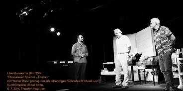 Chaoslesen am 6. Juli 2014 - Mit Walter Baco (Mitte).