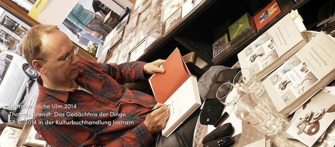 Thomas Brandt in der Literaturwoche Ulm