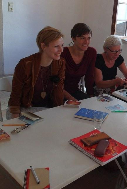 Schreibworkshop mit Pauline Füg in der Griesbadgalerie Ulm - am 3. 7. 2014