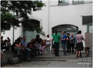 """Münch & Sauer: Schöne Aussicht im Café """"Schneiderei"""" am 14. 6. 2015 (Foto: Schoell)"""