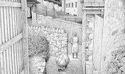Einar Turkowski: Die Herbsttante. Zeichnung auf Papier.