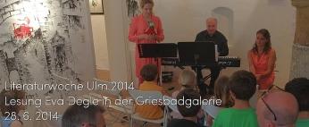 Lesung Eva Degle - am 28. 6. 2014 in der Griesbadgalerie