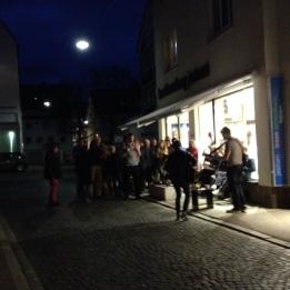 """Preview der Literaturwoche Donau am 4. April 2016 in der Kulturbuchhandlung Jastram mit der """"Roadstring Army""""."""