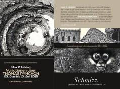 Max P. Häring: Variationen über Thomas Pynchon. Ausstellung im Café Schmizz, Ulm - bis 10. Juli 2015 zur Literaturwoche Ulm 2015.