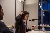 Nora Gomringer live - ein Erlebnis! Foto: Patrick Schmidt, Ulm