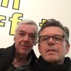Literatur aus Zürich mit Roger Monnerat (links) und Verleger Ricco Bilger (rechts) im Edwin Scharff Museum in Neu-Ulm am 28. April 2016. Foto: Bilgerverlag