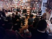 Deborah Feldman und ihr Verleger und Übersetzer Christian Ruzicska zu Gast bei der Literaturwoche am 15. April 2016. Foto: F. L. Arnold