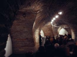 """Walter Frei las in der vollbesetzten Bastion der Venet-Haus Galerie aus Werner Dürrsons Roman """"Lohmann"""". Foto: F. L. Arnold"""