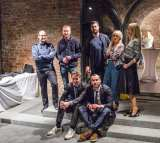 Eröffnung START WITH ART in der Venethaus-Galerie am 14. April 2016 - mit den Connor Brothers, London, und den Machern der Literaturwoche Donau. Foto: Patrick Schmidt, Ulm
