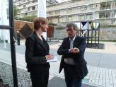 Finale am 7. Mai 2016 - mit Verleger Hubert Klöpfer und Moderatorin Wibke Richter. Foto: Arnold