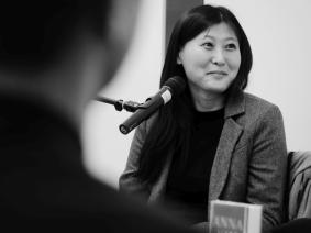 """Anna Kim las aus ihrem Roman """"Die grosse Heimkehr"""". Foto: Kathrin Häckert"""