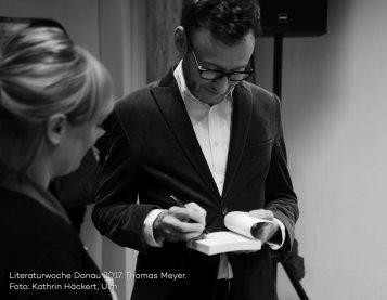Lesung Thomas Meyer, Rechnung über meine Dukaten, Literaturwoche Donau 2017. Foto Kathrin Häckert.