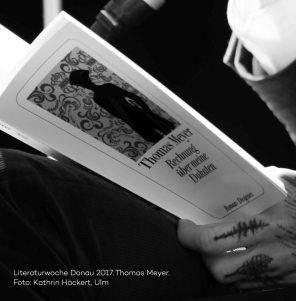Lesung Thomas Meyer, Rechnung über meine Dukaten, Literaturwoche Donau 2017. Foto Kathrin Häckert