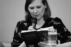Lesung von Kirsten Fuchs in der Stadtbibliothek Ulm am 30. April 2017 zur Literaturwoche Donau 2017.