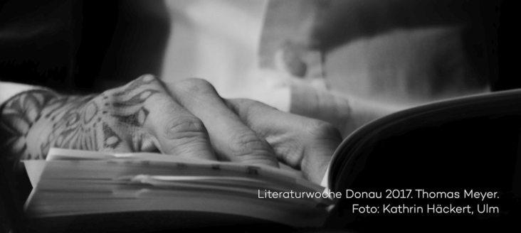 Lesung von Thomas Meyer zur Literaturwoche Donau 2017 in der vH Ulm. Foto Kathrin Häckert.