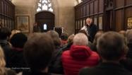 """Michael Lichtwarck-Aschoff las im Münsterturm aus seinem Roman """"Hoffnung ist das Ding mit Federn"""". Foto: Kathrin Häckert"""