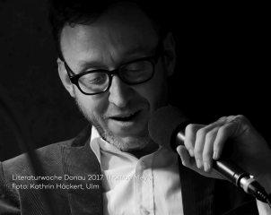 Thomas Meyer las zur Literaturwoche Donau 2017 in der vH Ulm. Foto Kathrin Häckert